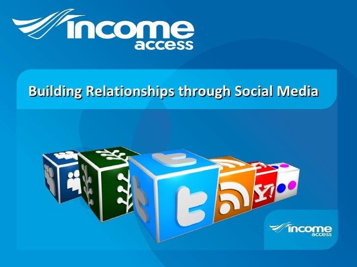 Building Relationships through Social Media