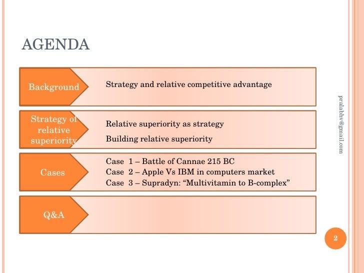 Q a competitive advantage