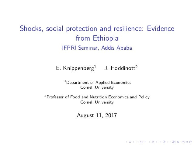 Shocks, social protection and resilience: Evidence from Ethiopia