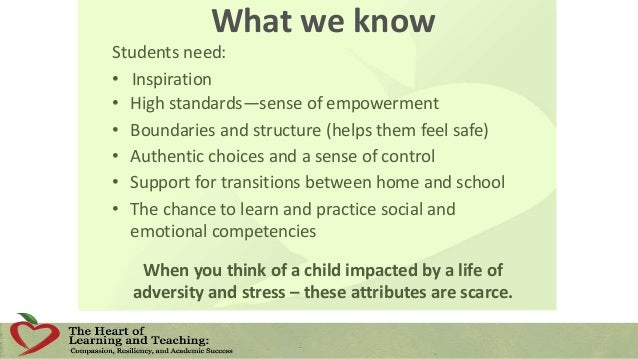 The Goals of a Compassionate School To provide a safe, supportive, and Inspirational environment for learning and thriving...