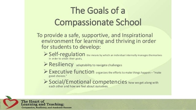 Ten Strategies of a Compassionate School 1. Focus on culture and climate in the school and community. 2. Train and support...