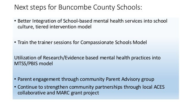 Contact Information: • David Thompson, Director of Student Services, Buncombe County Schools(david.thompson@bcsemail.org, )