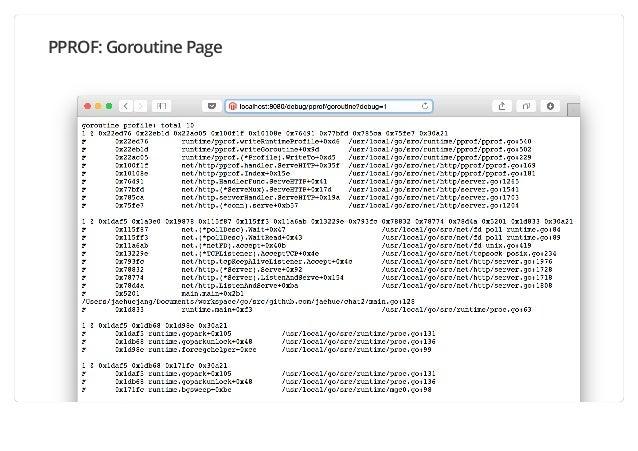 PPROF: Goroutine Page