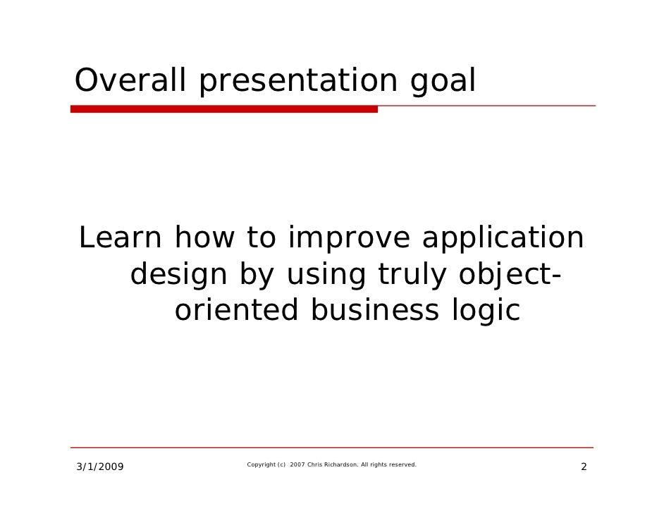 Building Rich Domain Models Slide 2