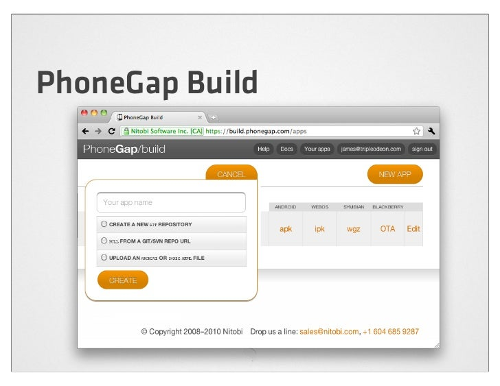 HTML5 and the dawn of rich mobile web applications