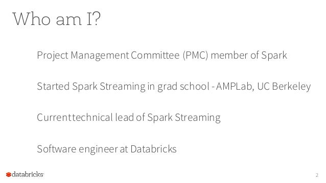 Building Robust, Adaptive Streaming Apps with Spark Streaming Slide 2