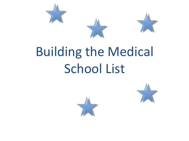 Building the Medical School List