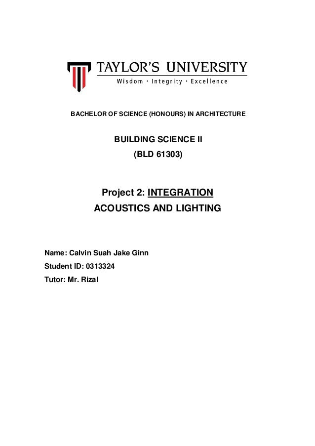 Building Science Project  Integration Report Calculation