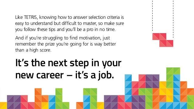 How job selection criteria is like Tetris