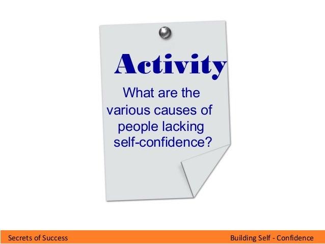 Building self confidence v 11-feb09
