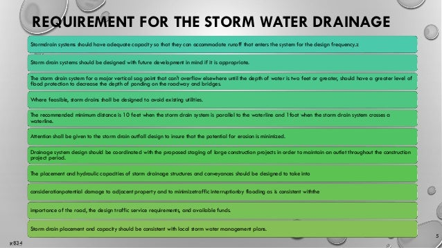 Stormwater Drainage Design Ppt