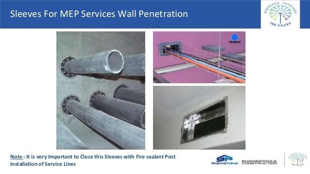 Sanitary pipe wall penetration seal