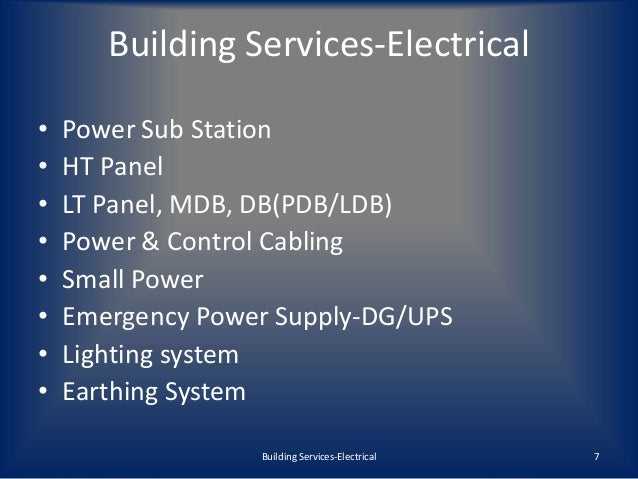 Building Services Electrical Mep