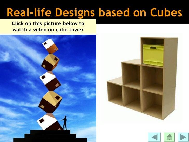 Building solids using unit cubes