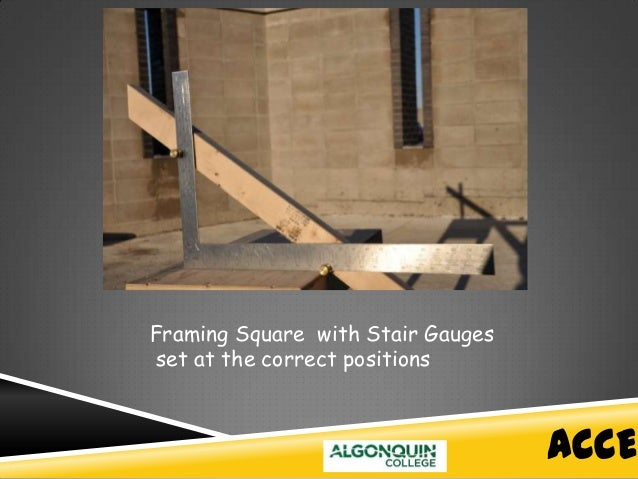Fine How To Layout Stairs With A Framing Square Crest   Custom .