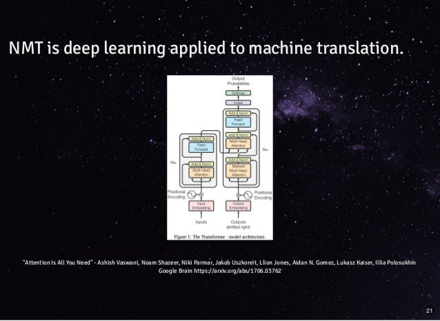 Building streaming pipelines for neural machine translation