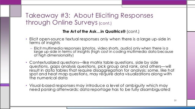 Building Surveys in Qualtrics for Efficient ytics on