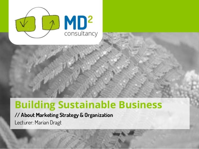 Empowering New BusinessBuilding Sustainable Business// About Marketing Strategy & OrganizationLecturer: Marian Dragt
