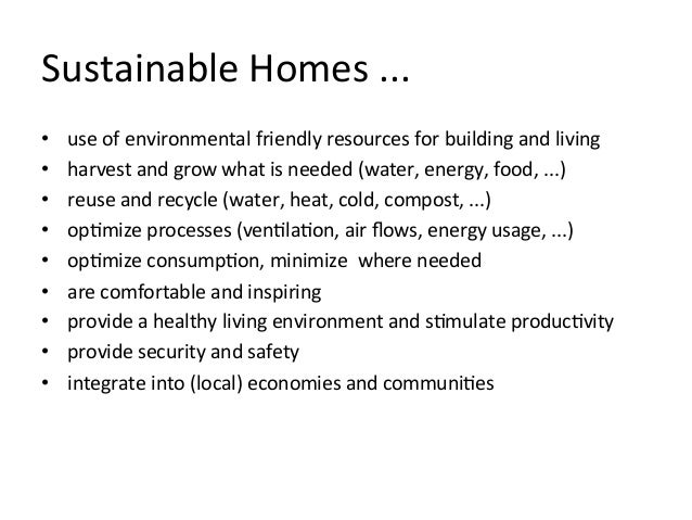 building sustainable smart homes