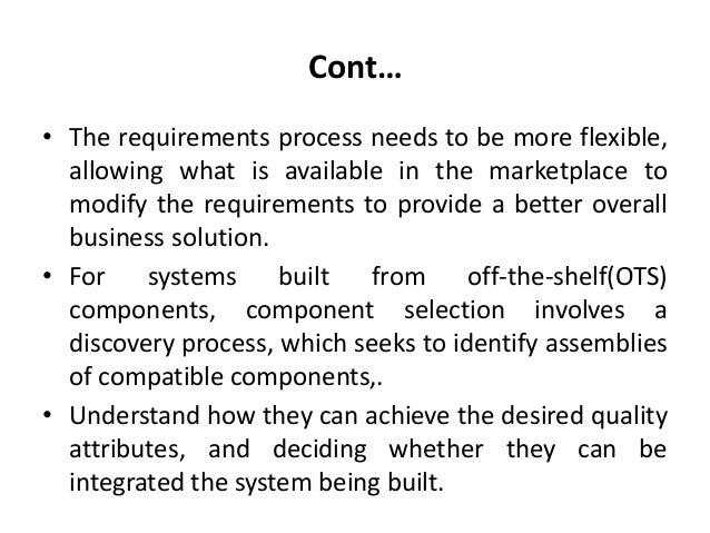 Building systems from off the shelf components Slide 3