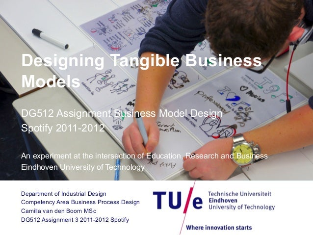 Designing Tangible Business Models DG512 Assignment Business Model Design Spotify 2011-2012 An experiment at the intersect...