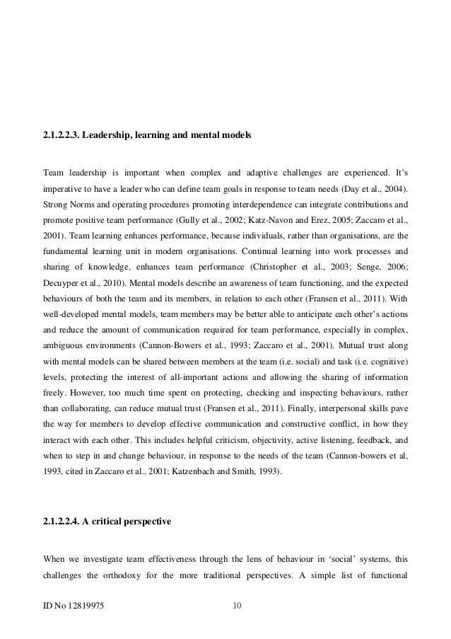 team building dissertation Will refer to the individual being coached some models of coaching incorporate team coaching methods, where team goals or corporate goals are defined.