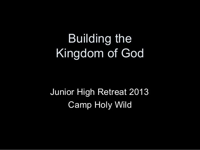 Building the kingdom of god within ourselves