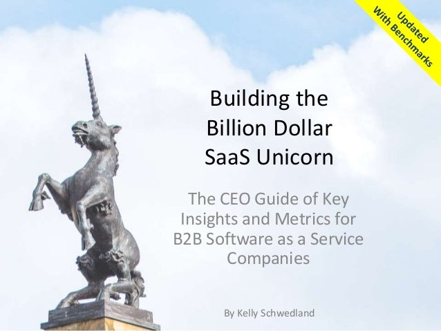 Building the Billion Dollar SaaS Unicorn The CEO Guide of Key Insights and Metrics for B2B Software as a Service Companies...