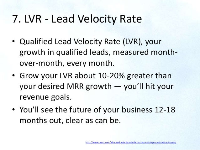 7 Lvr Lead Velocity