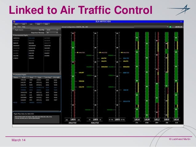 Linked to Air Traffic Control  March 14  © Lockheed Martin