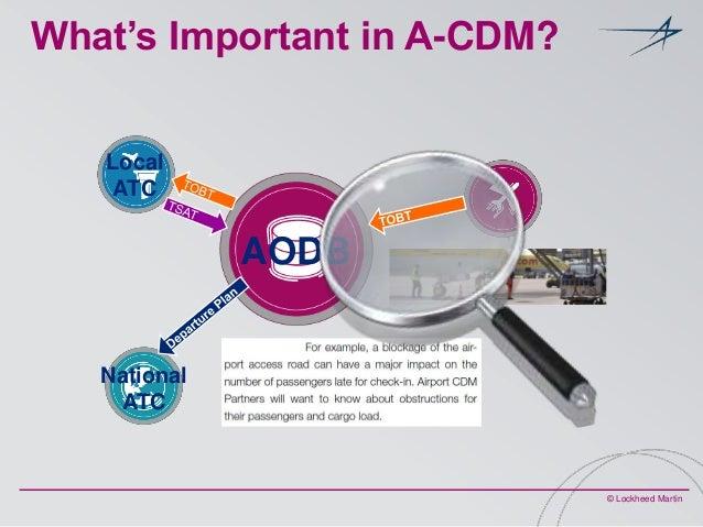 What's Important in A-CDM? Local ATC  AODB  National ATC  © Lockheed Martin
