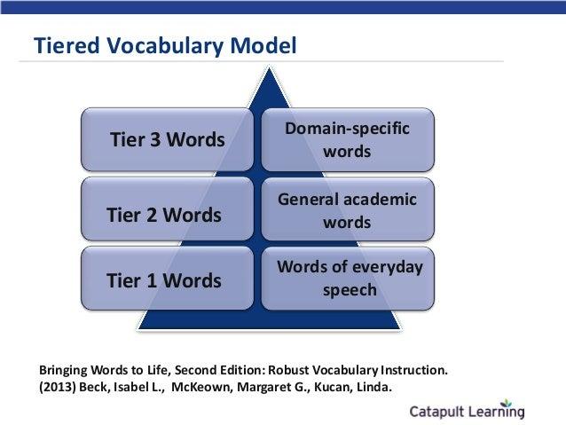 tiered vocabulary