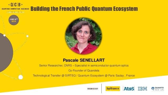 ORGANIZED BY JUNE 20TH 2019 Building the French Public Quantum Ecosystem Pascale SENELLART Senior Researcher, CNRS – Speci...