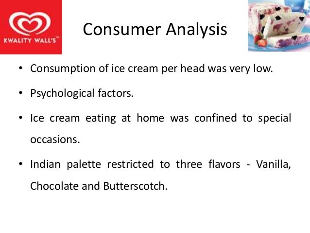 situational analysis for ice cream It's not a 'cool' job a situational analysis of ice cream vendors from relmagra august 2007 aajeevika bureau (udaipur, india) & overseas development institute (london, uk.