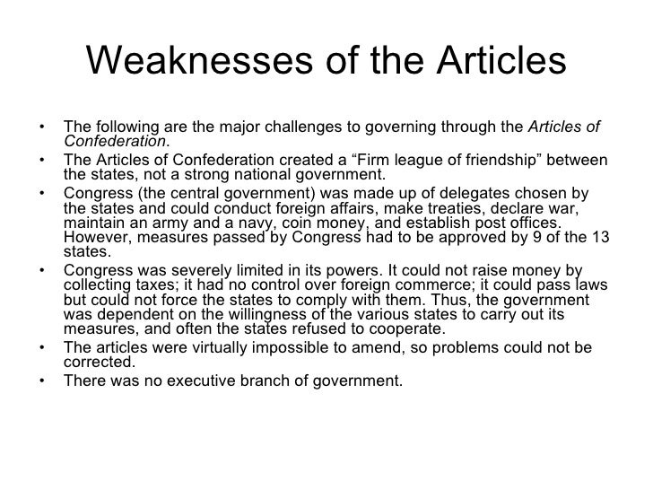 Building the new american nation131 weaknesses of the articles publicscrutiny Choice Image