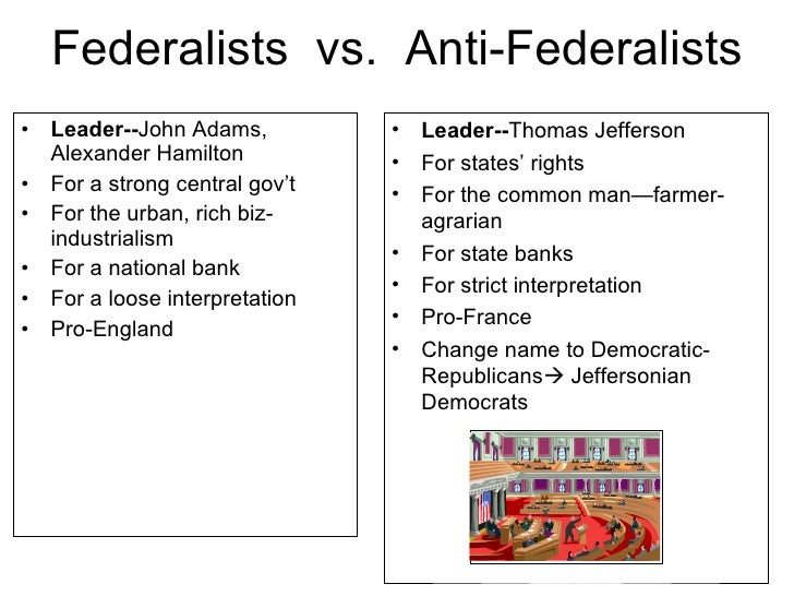 federalists vs jeffersonians essay example The federalists vs anti-federalists this essay contains three pages which examines how thomas jefferson and james madison while during the period of them being in office, handled the issues pertaining to both domestic and foreign policies.