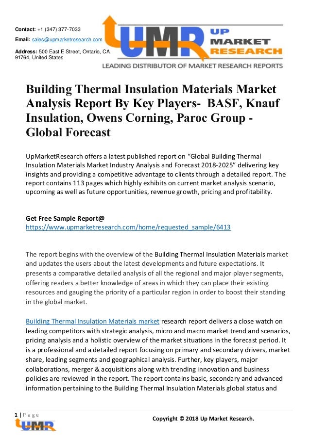 Building Thermal Insulation Materials Market Analysis Report