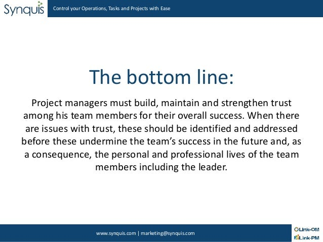 team success the essential elements Over the past few years, i've been predominantly working in the financial services industry, more specifically in the investment banking area banking being one of the.