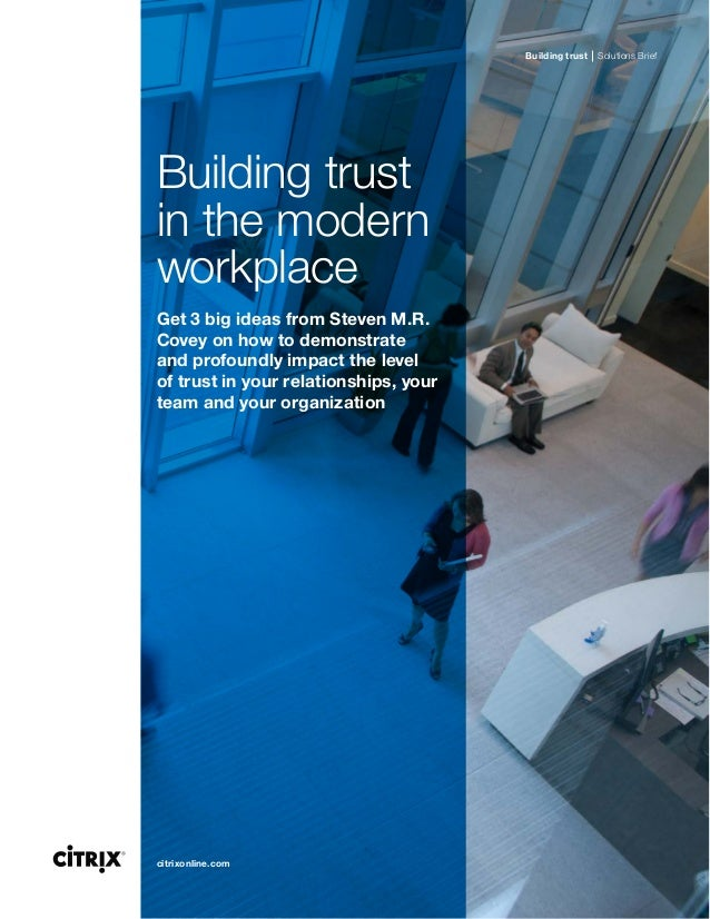 building trust in the workplace pdf