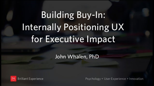 Building Buy-In: 