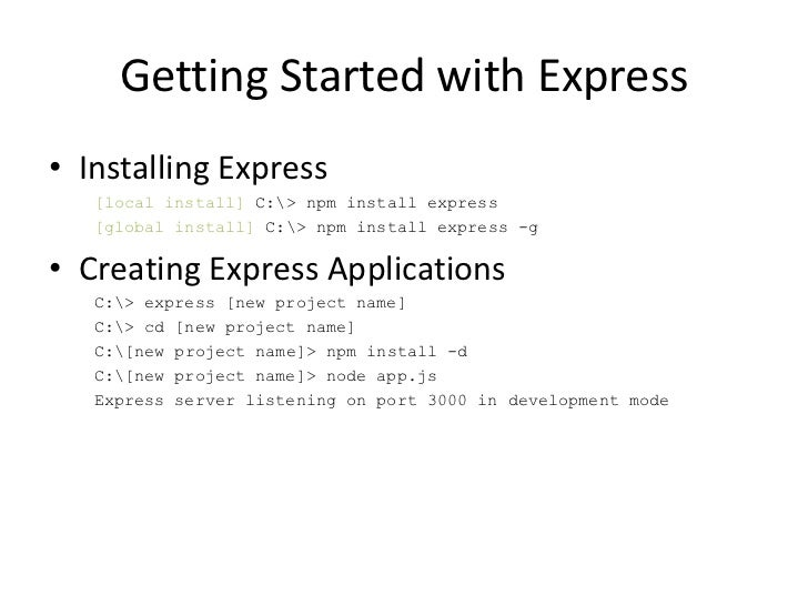Building Web Apps With Express