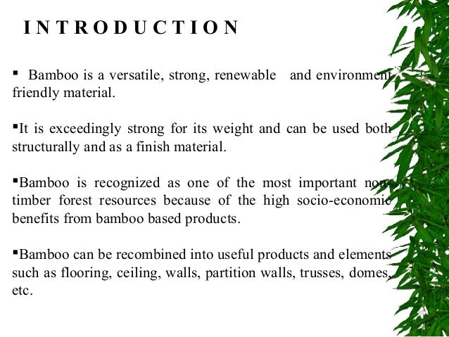 Sustainable Building Products use of bamboo in sustainable building