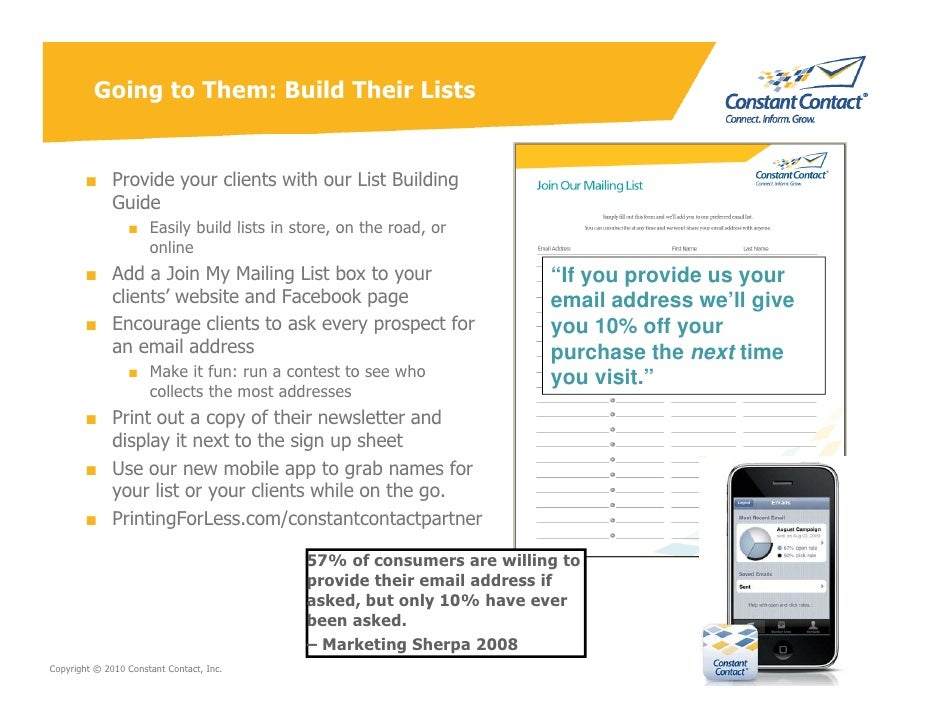 Going to Them: Build Their Lists           ■ Provide your clients with our List Building           Guide                  ...