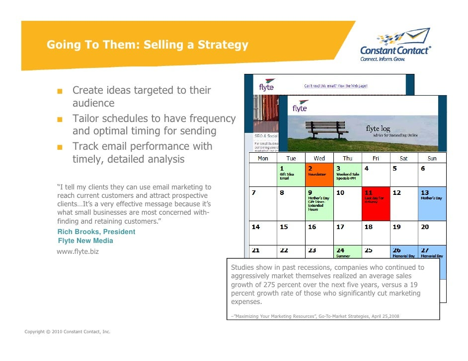 Going To Them: Selling a Strategy                 ■ Create ideas targeted to their                 audience               ...