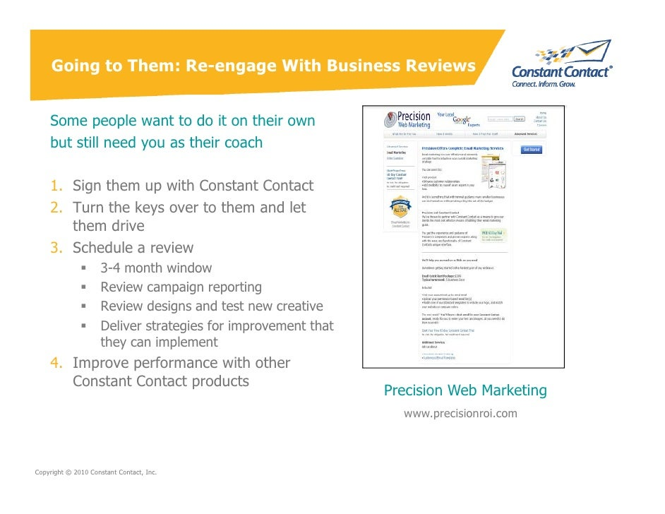 Going to Them: Re-engage With Business Reviews       Some people want to do it on their own     but still need you as thei...