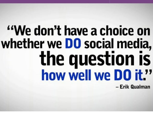 Social Media: Why YOU can not ignore it • It is word of mouth on steroids • It is current, relevant and invasive • 1 in 4 ...