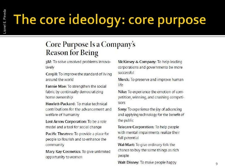 """building your company s vision For the most successful application of the collins/porras vision framework it should be used in review article """"building your company's vision,"""" by collins."""