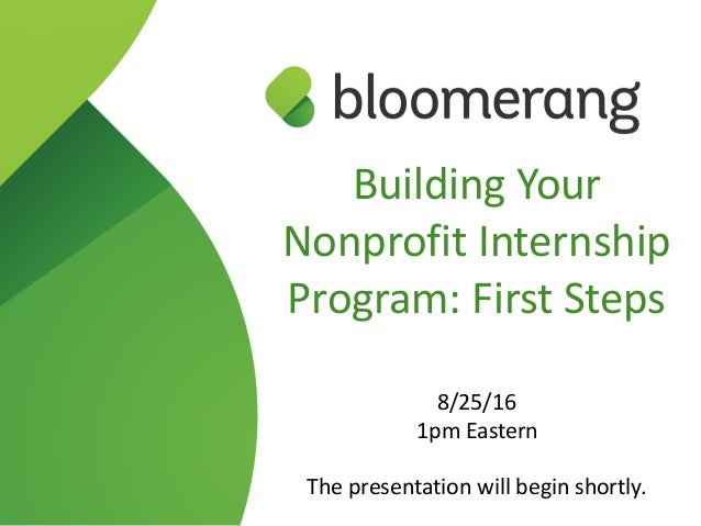 Building your nonprofit internship program first steps for Build your house program