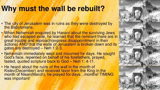 Building your Spiritual Wall : Nehemiah  Slide 3