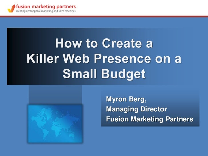Myron Berg,Managing DirectorFusion Marketing Partners